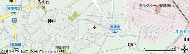 愛知県安城市箕輪町(鳥屋金)周辺の地図