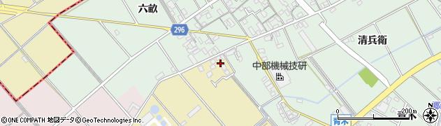 愛知県安城市福釜町(道田)周辺の地図