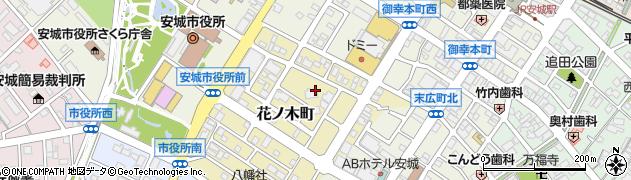 愛知県安城市花ノ木町周辺の地図