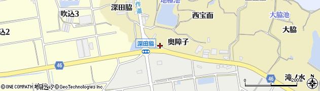 愛知県知多市岡田(南地極池)周辺の地図