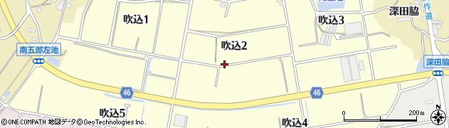 愛知県知多市吹込周辺の地図