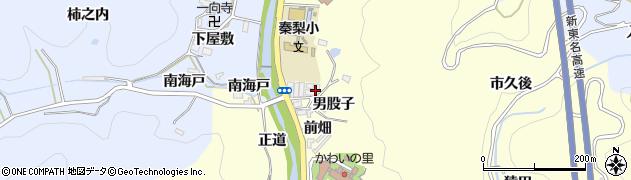 愛知県岡崎市秦梨町(当茂)周辺の地図