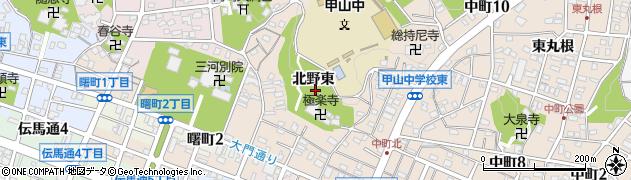 愛知県岡崎市中町(北野東)周辺の地図