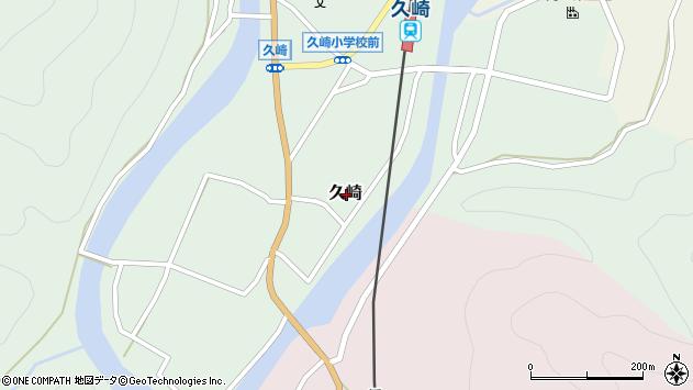 〒679-5641 兵庫県佐用郡佐用町久崎の地図