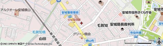 愛知県安城市横山町(下毛賀知)周辺の地図