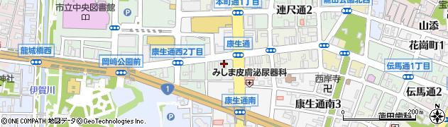 徳川周辺の地図