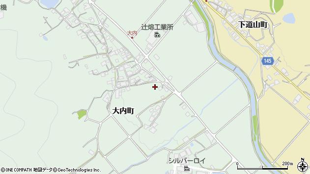 〒675-2455 兵庫県加西市大内町の地図