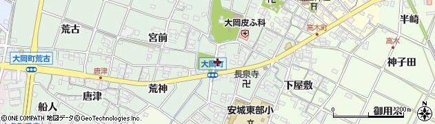 愛知県安城市大岡町(的場)周辺の地図