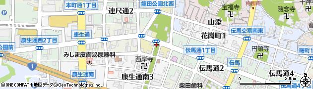 愛知県岡崎市籠田町周辺の地図
