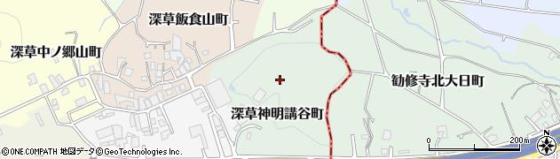 京都府京都市伏見区深草神明講谷町周辺の地図
