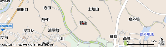 愛知県知多市日長(狐鎌)周辺の地図