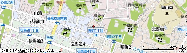 愛知県岡崎市中町(屋敷裏)周辺の地図