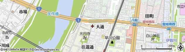 愛知県岡崎市八帖町(大通)周辺の地図