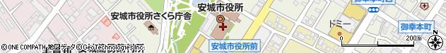 愛知県安城市周辺の地図