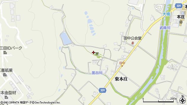 〒669-1357 兵庫県三田市東本庄の地図