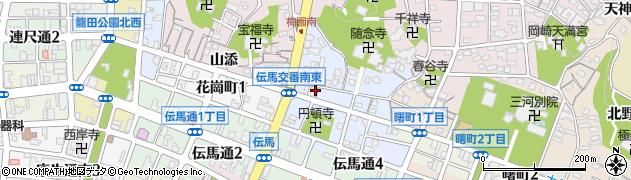 愛知県岡崎市久右エ門町周辺の地図