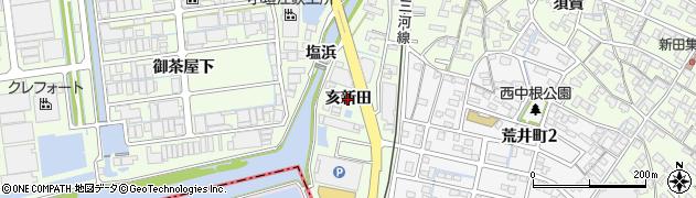 愛知県刈谷市小垣江町(亥新田)周辺の地図