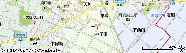 愛知県安城市高木町周辺の地図