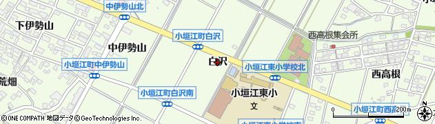 愛知県刈谷市小垣江町(白沢)周辺の地図