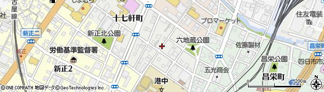 三重県四日市市十七軒町周辺の地図