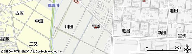 愛知県岡崎市北本郷町(野添)周辺の地図