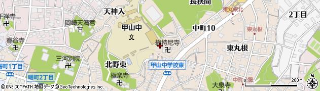 愛知県岡崎市中町(小猿塚)周辺の地図