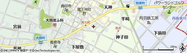 愛知県安城市高木町(上屋敷)周辺の地図