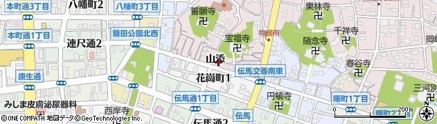 愛知県岡崎市梅園町(山添)周辺の地図