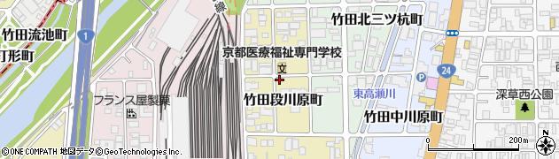京都府京都市伏見区竹田段川原町周辺の地図