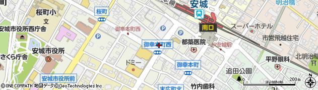 愛知県安城市御幸本町周辺の地図