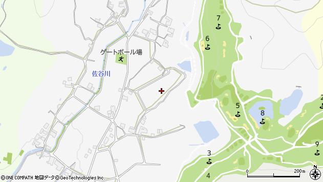 〒675-2461 兵庫県加西市佐谷町の地図