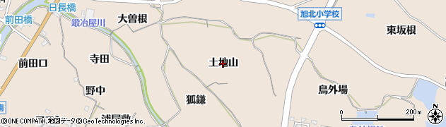 愛知県知多市日長(土地山)周辺の地図