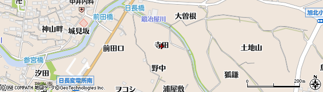 愛知県知多市日長(寺田)周辺の地図