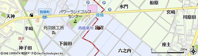 愛知県岡崎市富永町(蓮沼)周辺の地図