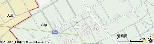 愛知県安城市箕輪町(新田)周辺の地図
