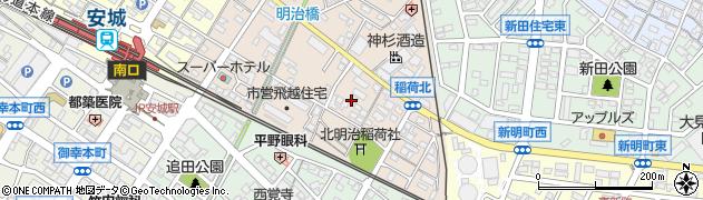 愛知県安城市明治本町周辺の地図
