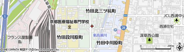京都府京都市伏見区竹田北三ツ杭町周辺の地図