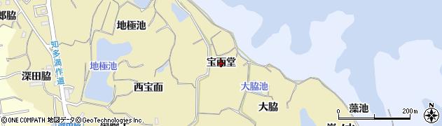愛知県知多市岡田(宝面堂)周辺の地図
