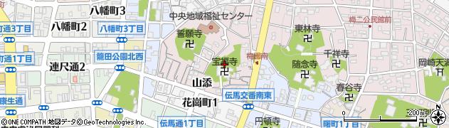 愛知県岡崎市梅園町(白雲)周辺の地図