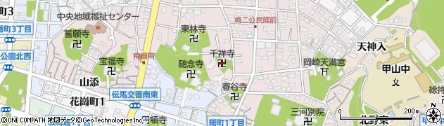 千祥寺周辺の地図