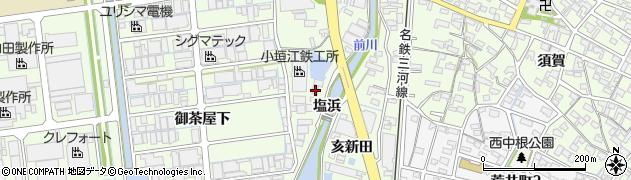 愛知県刈谷市小垣江町(塩浜)周辺の地図