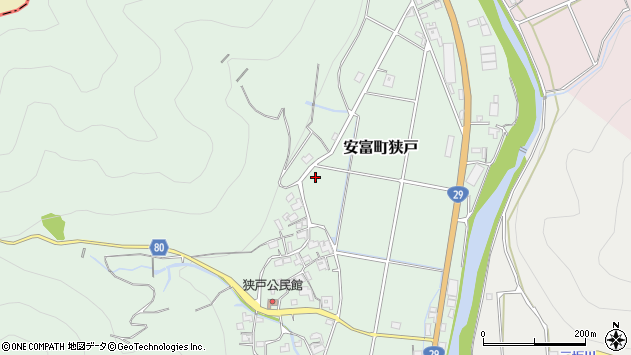 〒671-2423 兵庫県姫路市安富町狭戸の地図