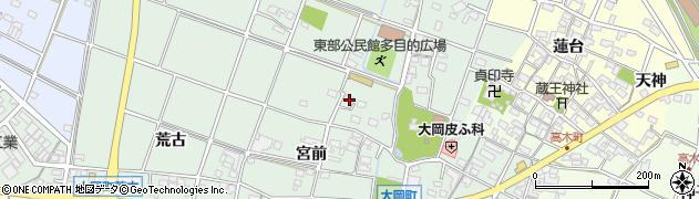 愛知県安城市大岡町(源覚)周辺の地図