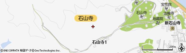 滋賀県大津市石山寺周辺の地図