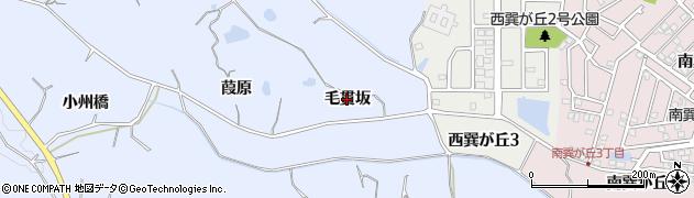 愛知県知多市佐布里(毛貫坂)周辺の地図