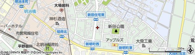 愛知県安城市新明町周辺の地図