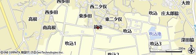 愛知県知多市岡田(鏡池)周辺の地図