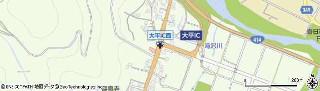 大平IC周辺の地図