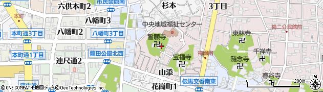 愛知県岡崎市梅園町(虎石)周辺の地図