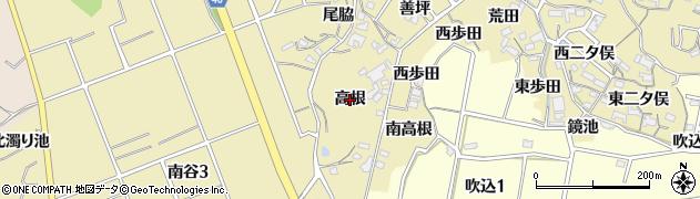 愛知県知多市岡田(高根)周辺の地図